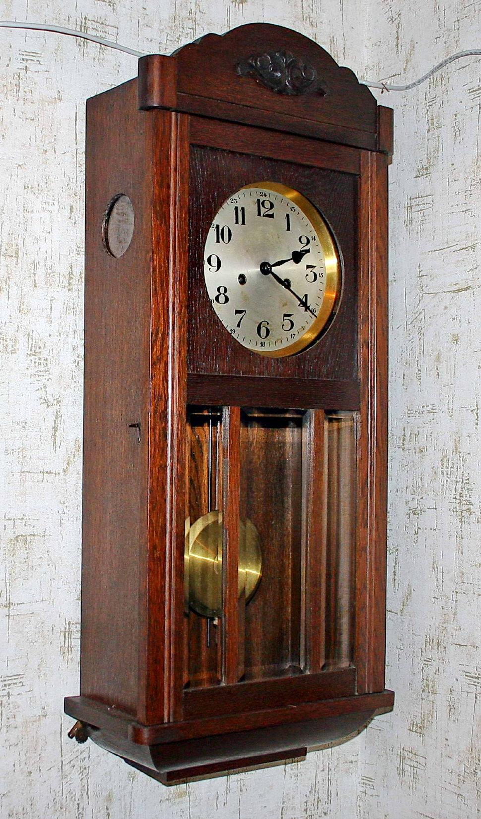 f81d485daf5c5 Старинные настенные часы GUSTAV BECKER с часовым и получасовым боем